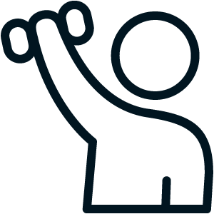 Arm rehab icon