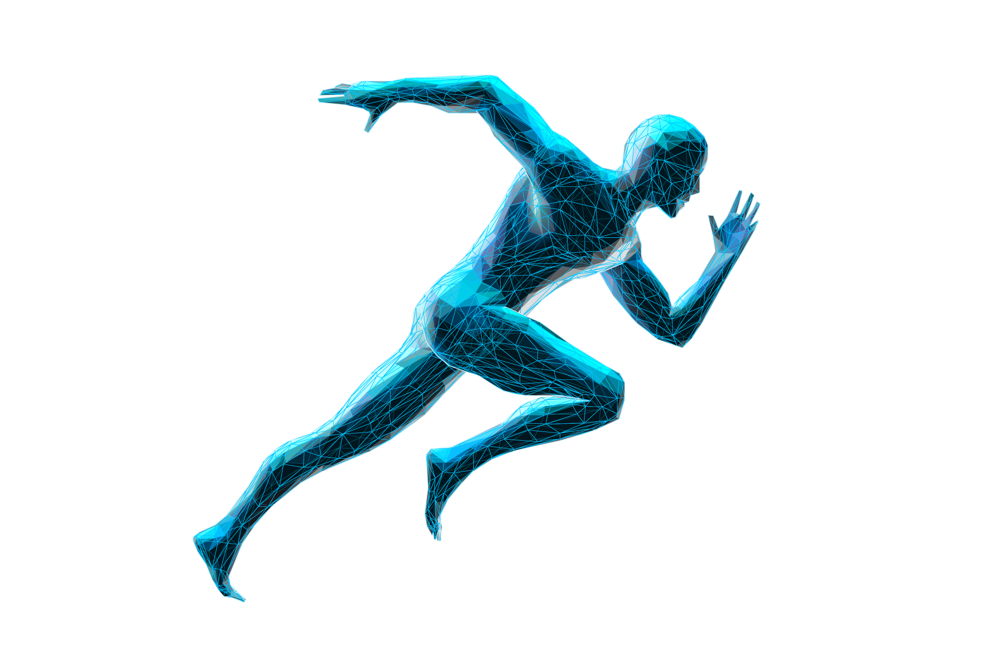 Geometric running figure